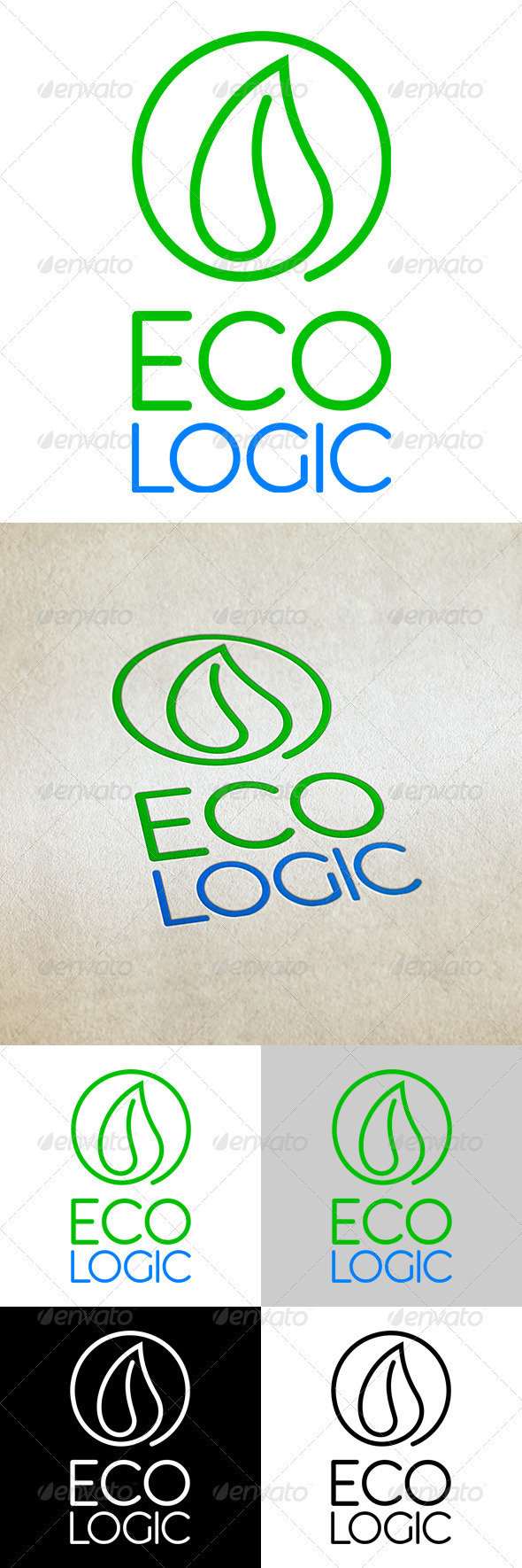 Eco Logic - Abstract Logo Templates