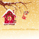 Christmas Card Robin Bird Send Greeting - GraphicRiver Item for Sale