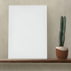 White canvas on a wooden shelf - PhotoDune Item for Sale