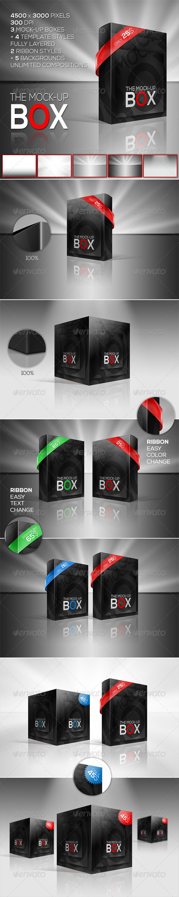 The Mock-Up Box   7 Photorealistic Styles - Miscellaneous Packaging
