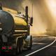 Semi Tank Truck on the Scenic Redwood Highway - PhotoDune Item for Sale