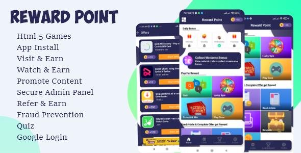 Reward Point - Html Games + Custom Offerwall