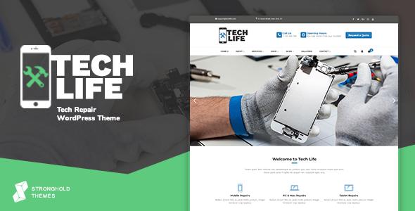 Excellent TechLife - Mobile, Tech & Electronics Repair Shop WordPress Theme