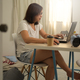 Asian women meeting online while working from home. - PhotoDune Item for Sale