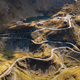 Aerial view of the famous Transfagarash highway, Romania. Mountain road - PhotoDune Item for Sale