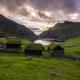 Sunset at Saksun valley Stremnoy island, Faroe Islands, Denmark - PhotoDune Item for Sale