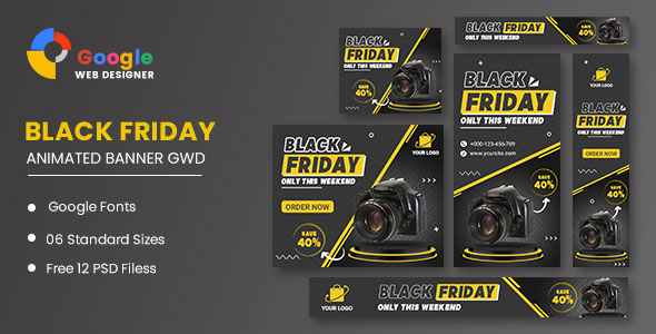 Product Sale Black Friday HTML5 Banner Ads GWD