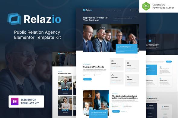 Relazio – Public Relation Agency Elementor Template Kit