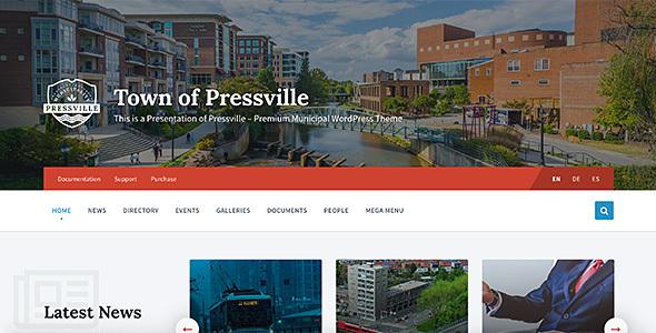 Super Pressville - Municipal & City Government WordPress Theme