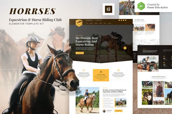 Horrses – Equestrian & Horse Riding Club Elementor Template Kit