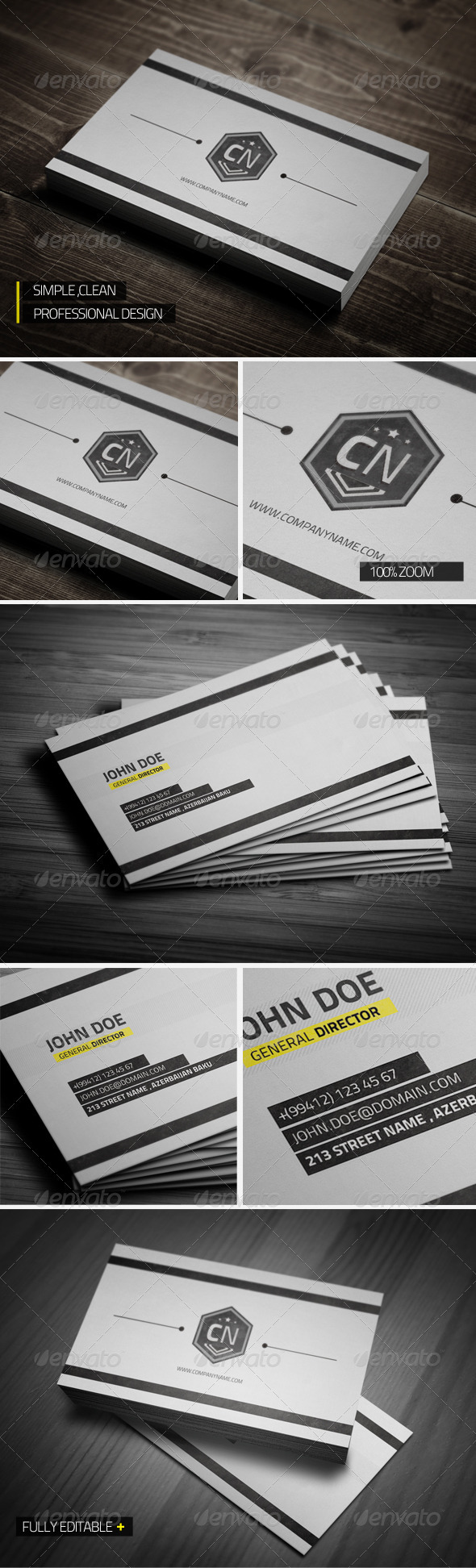 Clean Professional Business Card - Corporate Business Cards