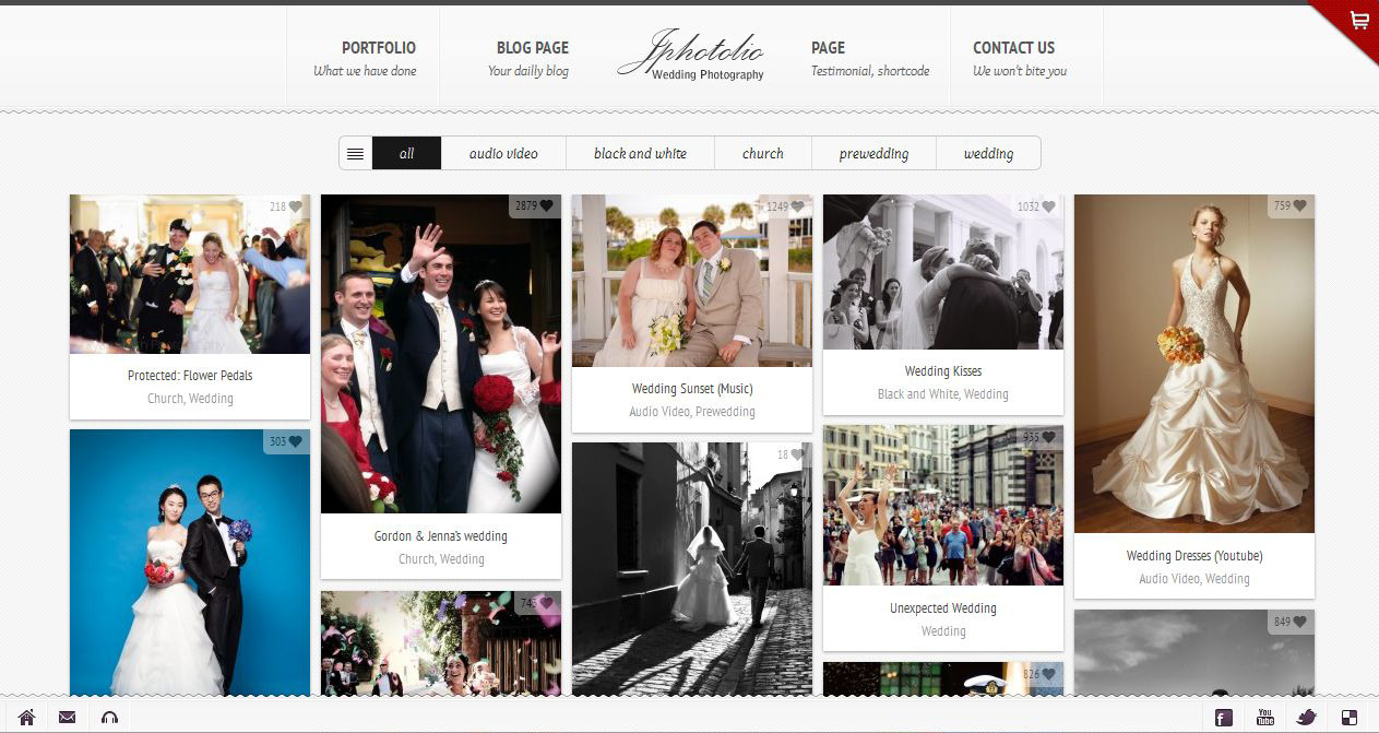 JPhotolio: Responsive Wedding Photography WP Theme by jegtheme ...