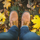 Man legs in jeans and brown leather boots - PhotoDune Item for Sale