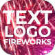 Text | Logo Fireworks - VideoHive Item for Sale