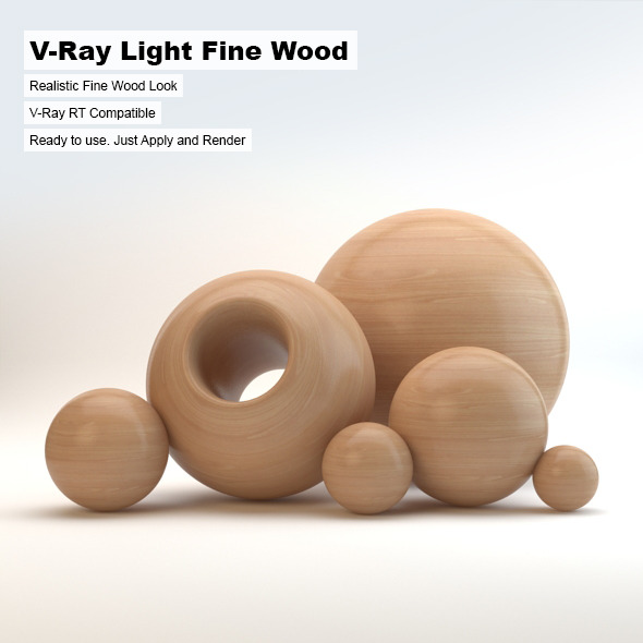 V-Ray Light Fine Wood Material