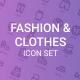 Fashion and Clothes icon Set