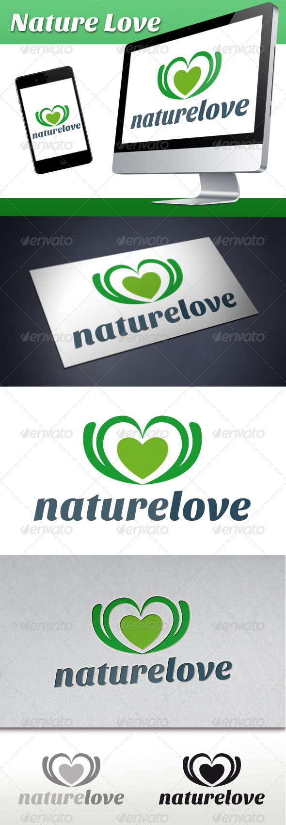 Nature Love Logo - Nature Logo Templates