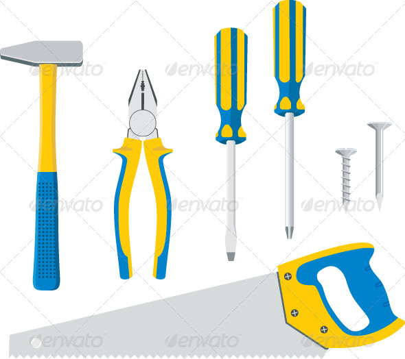 Tool Kit For Repair - Objects Vectors