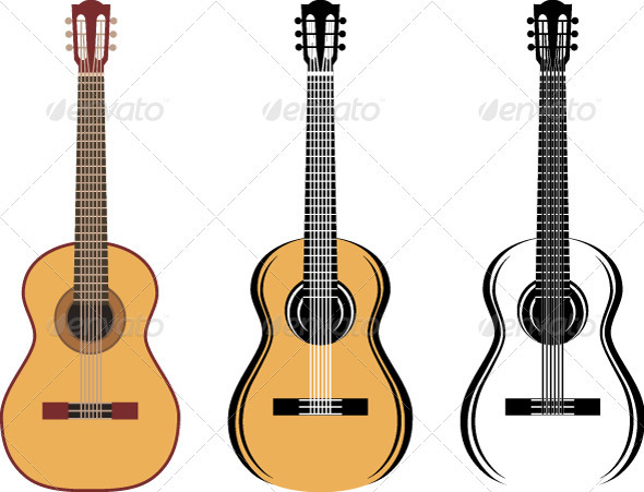 Set Of Guitars - Conceptual Vectors