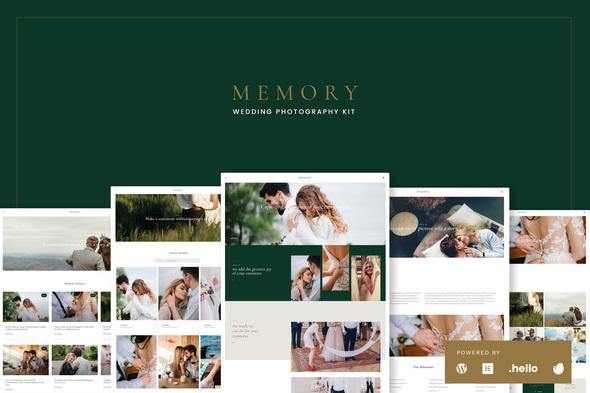 Memory - Wedding Photography Elementor Template Kits