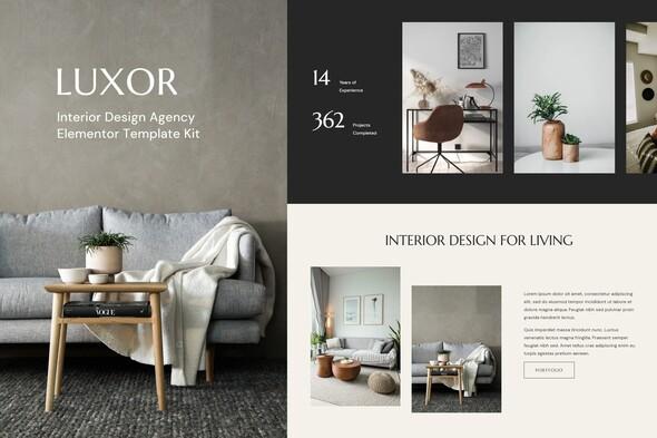 Luxor - Interior Design Agency Elementor Kit
