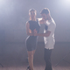Active happy adults dancing bachata together in dance class - PhotoDune Item for Sale