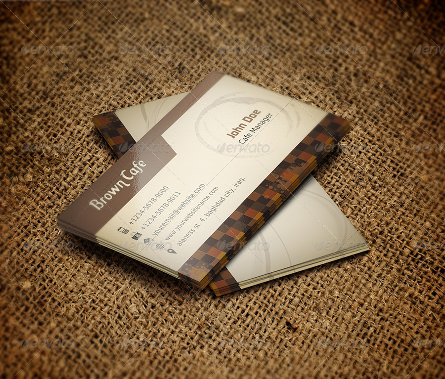 Coffee shop business card template by owpictures for Coffee business