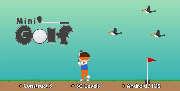 Mini Golf - HTML5 Game (Construct 3)