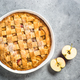 Apple pie with ginger and cinnamon at kitchen table - PhotoDune Item for Sale