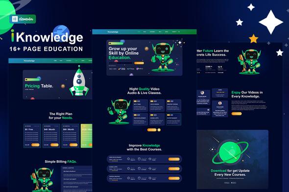 iKnowledge - Education Online & Learning Platform Elementor Template Kit