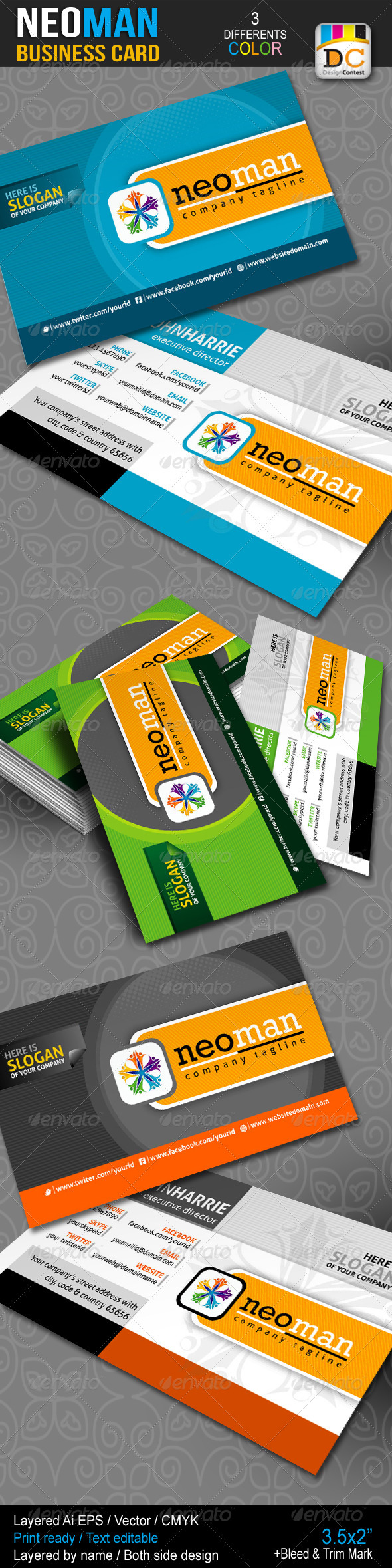 NeoMan Corporate Business Cards - Corporate Business Cards