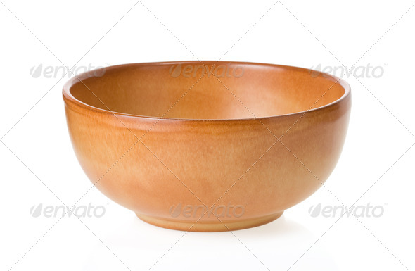 ceramic bowl isolated on white - Stock Photo - Images