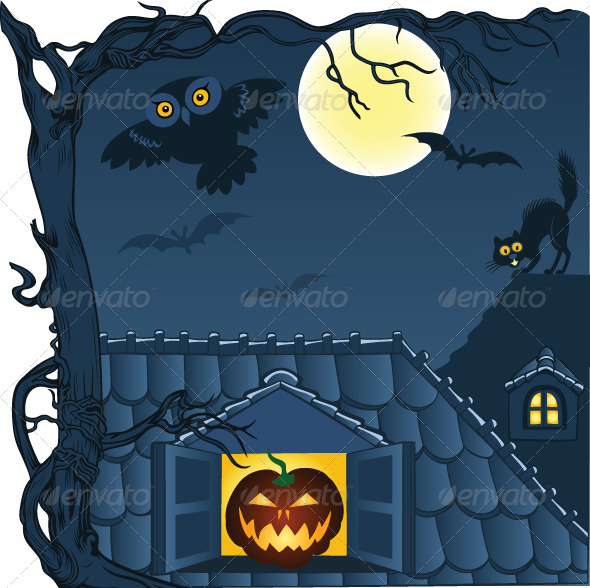 Vector Halloween Background - Halloween Seasons/Holidays