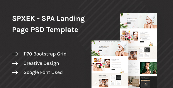 SPXEK - Spa & Beauty Landing Page PSD Template