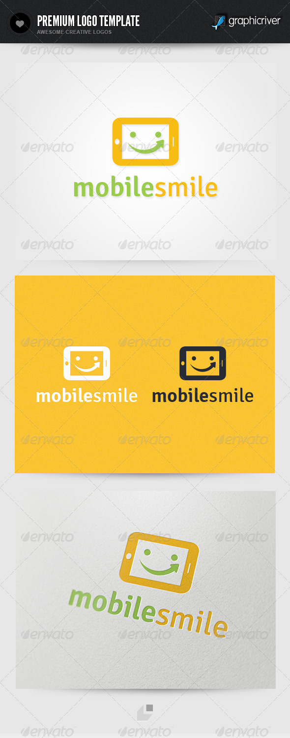 Mobile Smile Logo - Objects Logo Templates