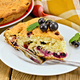 Pie with black currant on the board with a fork - PhotoDune Item for Sale