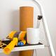 White coffee mug mockup with home repair stepladder - PhotoDune Item for Sale