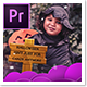 Halloween Stylish Slideshow Opener Mogrt