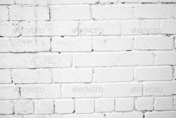 White Brick Wall Texture - Concrete Textures