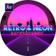 Retro Wave & Neon Backgrounds - VideoHive Item for Sale