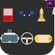 Gaming Icons - VideoHive Item for Sale