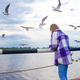 Cute little girl feed seagulls - PhotoDune Item for Sale