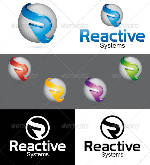 Reactive Systems Logo - Letters Logo Templates