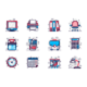 Office Supplies Line Icons Set
