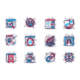 Seo Optimization Line Icons Set