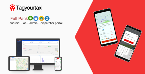 Tagyourtaxi - Taxi Application | Uber clone - Android + IOS + Dashboard