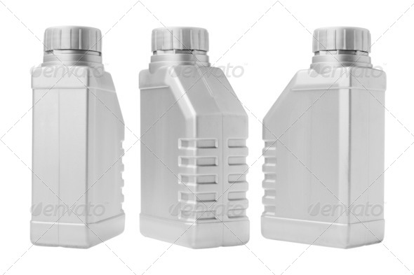 Three Plastic Containers - Stock Photo - Images