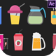 Drinks Animated Icons - VideoHive Item for Sale