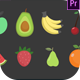 Fruits Icons - VideoHive Item for Sale