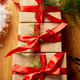 Christmas eco friendly packaging kraft paper  and fir branches gifts for the Holiday season - PhotoDune Item for Sale